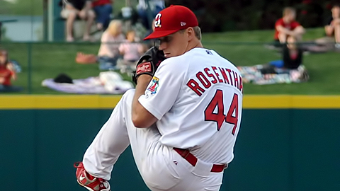 Righty Trevor Rosenthal won for the second time in three starts.