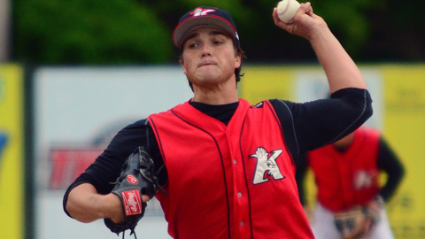 Blair Walters has a 2.84 ERA in 44 1/3 innings with Kannapolis this season.