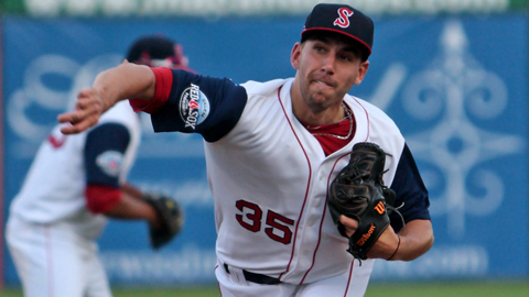 Matt Barnes is tied for fourth in the Minor Leagues with 86 strikeouts.
